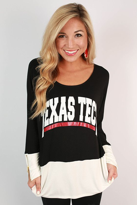 This Texas Tech color block tunic is such a fun addition to your game day wardrobe!