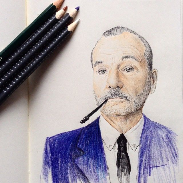 ¡Bill Murray by Ale Megale!  #Sketchs #Leuchtturm1917es