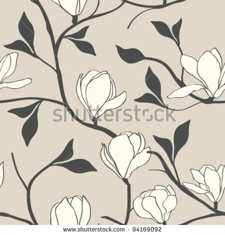 stock-vector-magnolia-flower-seamless-94169092.jpg (450×470)