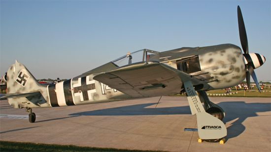 This near-exact replica of the Fw 190, registered NX190RF, is one of several that  have appeared on the warbird circuit in the past few years.