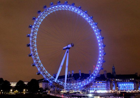 London Eye at Night by DWhitePhotography on Etsy
