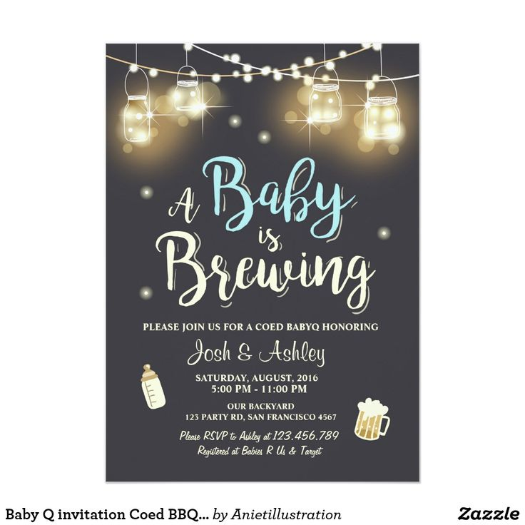Baby Q Invitation Coed Bbq Baby Shower Rustic Wood – sweetkingdom.co