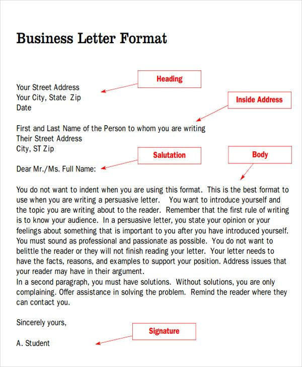 sample business letter salutation examples word pdf free samples amp formats