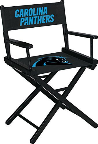 Carolina Panthers Table Height Directors Chair  https://allstarsportsfan.com/product/carolina-panthers-table-height-directors-chair/  Officially licensed by the National Football League Industry leading 10 year limited Warranty on frame covers our quality workmanship Made in the USA