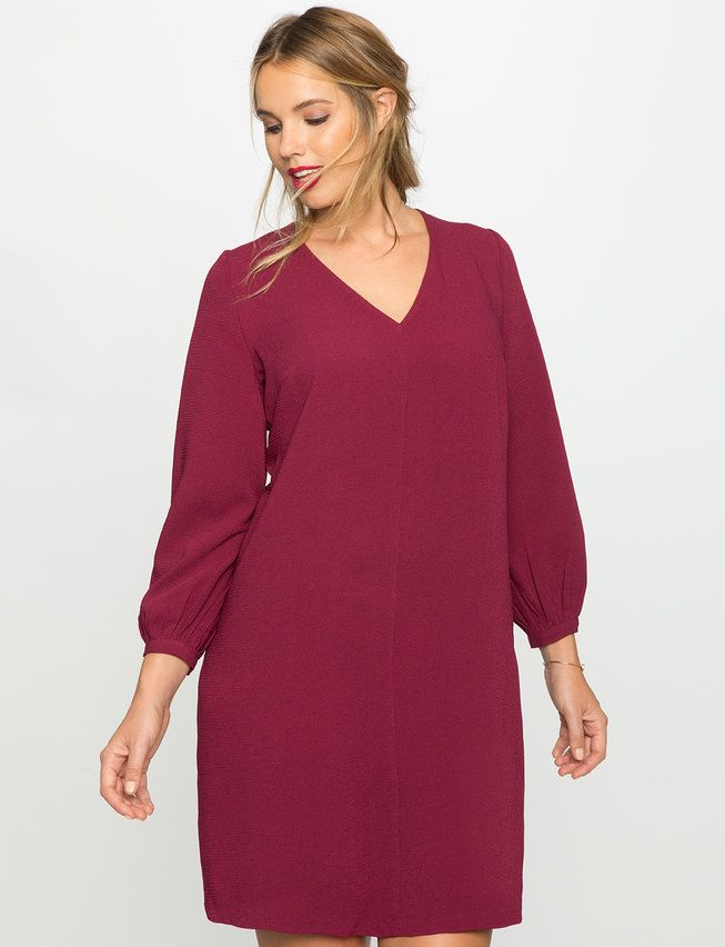 Long Sleeve Easy Dress from eloquii.com