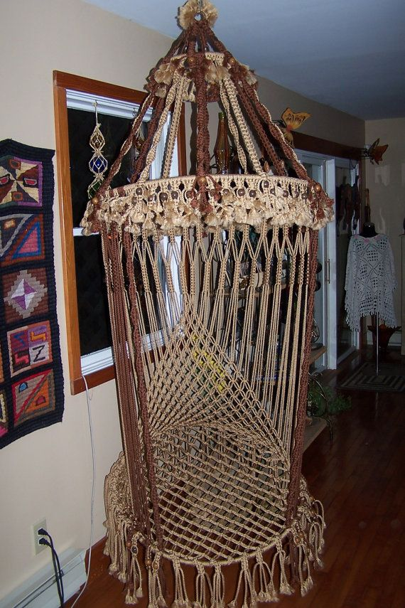 17 best images about macrame ideas to try on pinterest for Macrame hanging chair