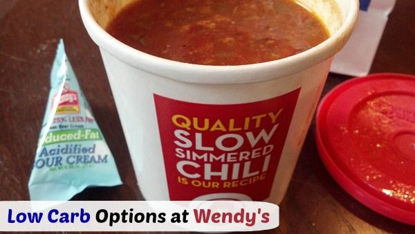 Low Carb Meal Options at Wendy's Fast Food Restaurant | TravelingLowCarb.com - Low Carb Diet Tips for Busy People #LowCarb
