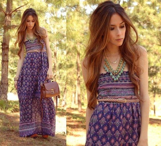 AlyssaLong Dresses, Boho Chic, Dresses Fashion, Fashion Styles, Dress Fashion, Beautiful Dresses, Maxis Dresses, Day Dresses, Hippie Dresses