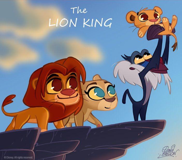 David Gilson: 50 Chibis Disney : le Roi Lion