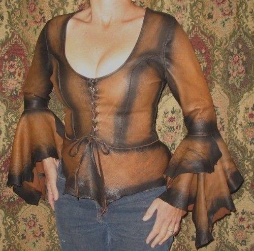 Leder Hemd Renaissance Bluse Pirat Steampunk Goth von dleather