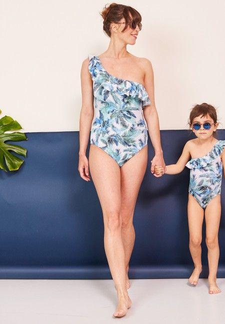 Envie de Fraise ♡ // Ursula Swimsuit #FamilyCollection #MotherDaughter #TropicalPrint #TropicalSwinsuit #PregnantSwimsuit #PregnancySwimsuit