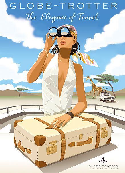 Luxury Traveler- The Elegance of Travel by Jason Brooks #Illustration #Artistic- ♔LadyLuxury♔