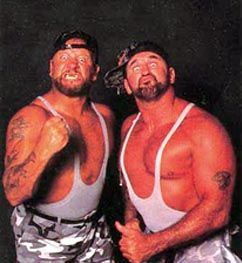 The Bushwackers - Heh. Loved these guys, too... Used to walk around doing the arm motions. lol