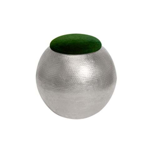 Click MatthewIzzo.com to see this (Worlds Away Tabouret SG Silver With Green Seat