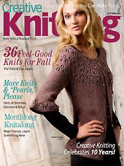 Autumn 2014 issue of Creative Knitting. This issue shows you how using metallic or sequined yarns can add something special to any knitting project. Also included are sweet and simple projects for babies, contemporary cables, and rustic home accents.