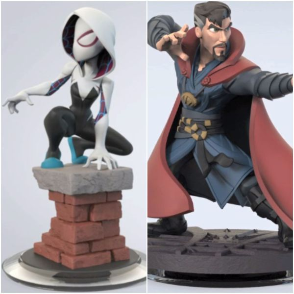 Disney Infinity Unreleased Spider-Gwen and Doctor Strange Figures!