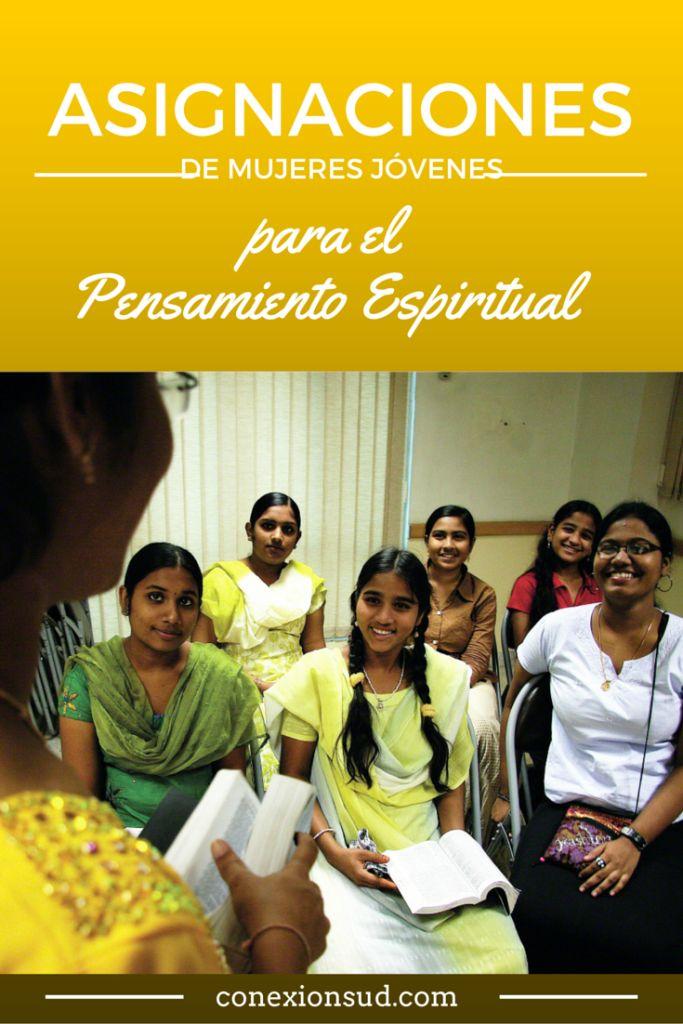 ¿Tienen un tiempo de Pensamiento Espiritual en sus ejercicios de apertura de las Mujeres Jóvenes? Tarjetas de Asignaciones del Pensamiento Espiritual.