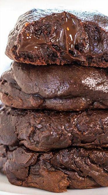 Triple Chocolate Brownie Batter Cookies