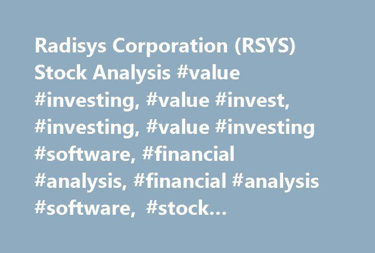 Radisys Corporation (RSYS) Stock Analysis #value #investing, #value #invest, #investing, #value #investing #software, #financial #analysis, #financial #analysis #software, #stock #valuation, #value #stocks http://san-diego.remmont.com/radisys-corporation-rsys-stock-analysis-value-investing-value-invest-investing-value-investing-software-financial-analysis-financial-analysis-software-stock-valuation-value-s/  # Company Metrics P/E 1478 P/S 0.77 P/B 3.18 EPS -0.45 Cash ROIC -2.40% Cash Ratio…