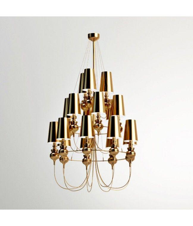 Josephine Queen 9.6.3 Chandelier (metalarte) -  High definition 3d model pendant lamp  Josephine Queen 9.6.3 Chandelier (metalarte) perfect to decorate classic hall & living.
