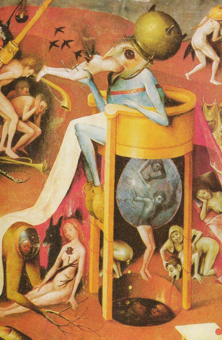 Detalle del infierno de 'El jardín de las delicias'
