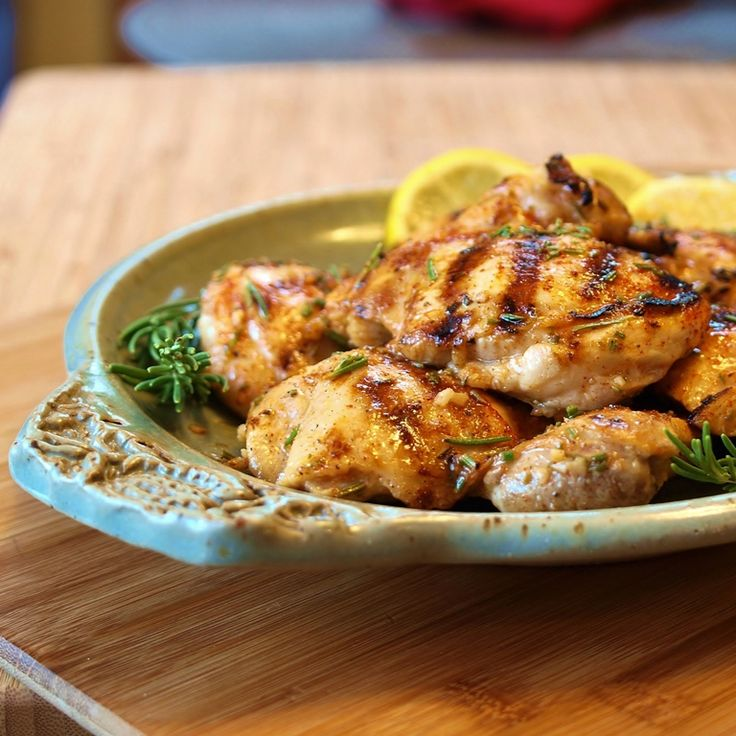 Lemon Rosemary Grilled Chicken: Olive Oil, Chicken Recipes, Chicken Dinner, Lemon Rosemary Chicken, Chicken Dishes, Grilled Chicken, Yum Yum, Rosemary Grilled, Food Recipe
