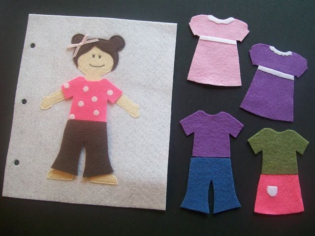 Quiet Book Page: Dress-up doll (free template too!)
