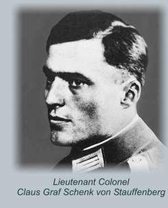 Oberst Claus Stauffenberg, leader of the Valkyrie resistance movement intended to assassinate Hitler in his bunker at the Wolfsschanze at Rastenburg on 07/20/1944.