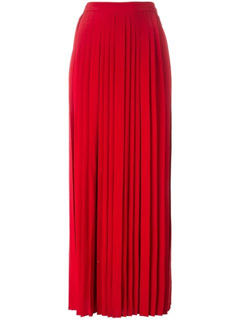 Shop Tory Burch long pleated skirt .