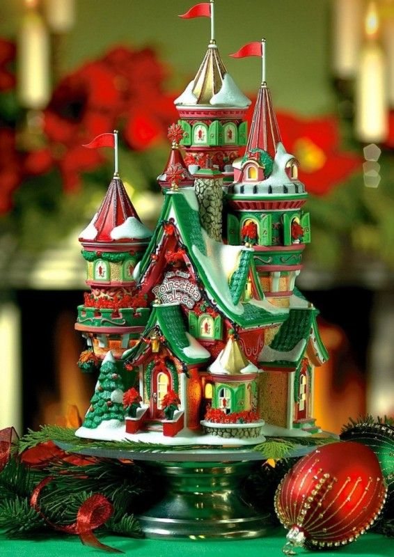 Snow's Ark Limited Edition Figure  - Department 56 North Pole Village Poinsettia Palace   Link    #Christmas