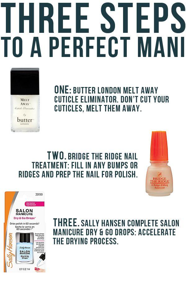 three steps to the perfect diy mani