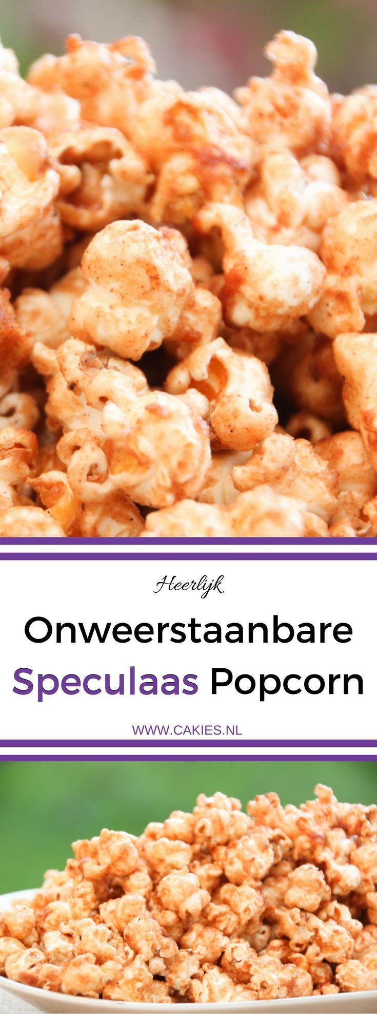 Speculaas Popcorn is de perfecte snack voor de herfst en de winter. Dit recept is super lekker en makkelijk om te maken. Een onweerstaanbare snack.     Een makkelijk Sinterklaas recept. 5 december.
