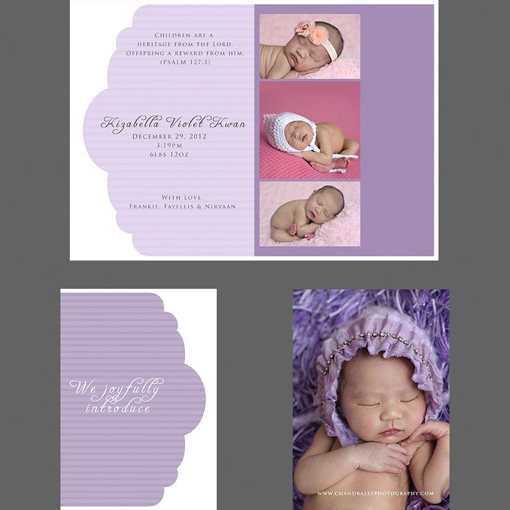 Best Birth Announcements Images On   Baby