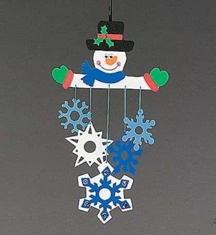 Lavoretti sull'inverno per la scuola dell'infanzia - Decorazione sull'inverno per bambini
