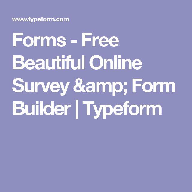 Forms - Free Beautiful Online Survey & Form Builder | Typeform