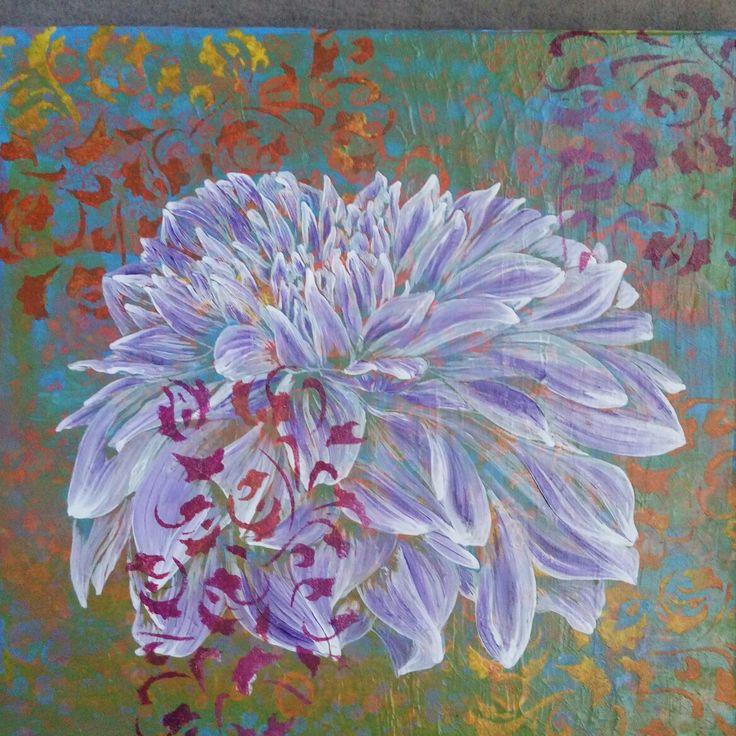 Dalia @artesupa #acrílico #flores #decoración