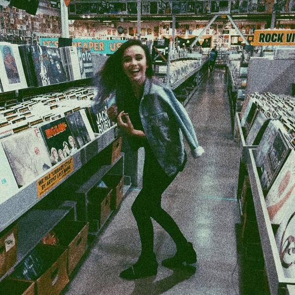 Pure happiness: Going to an old record store and being surrounded by music everywhere. // Acacia Brinley