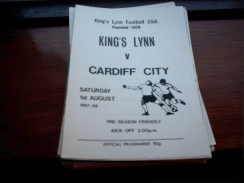 KINGS LYNN V CARDIFF CITY 01-08-1987 FRIENDLY