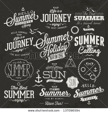 retro elements for summer calligraphic designs vintage. Black Bedroom Furniture Sets. Home Design Ideas