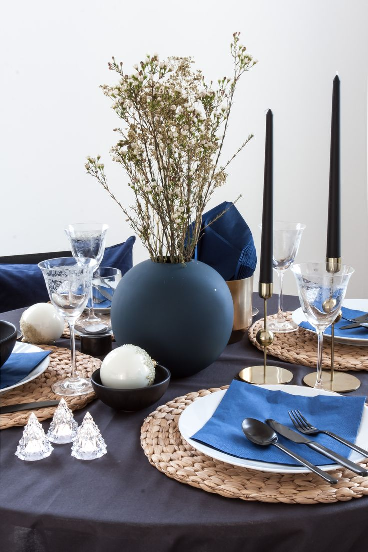 Blue Christmas styling. Cooee midnight blue.