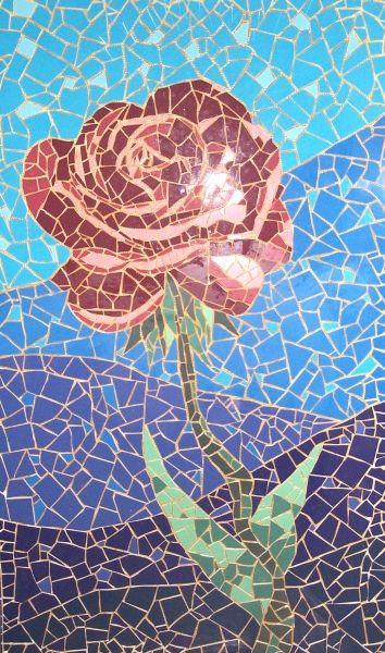 mosaic rose mosaic designsmosaic ideasmosaic - Mosaic Design Ideas