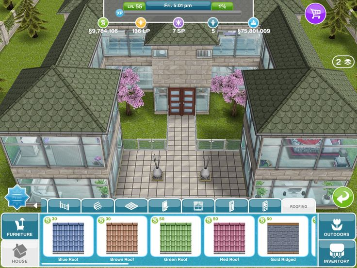 sims freeplay house design window mansion - Design A House Games