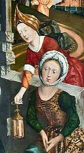 Bopfingen. St. Blasius. Hochaltar, li Flügel: Geburt (Friedrich Herlin, um 1472)