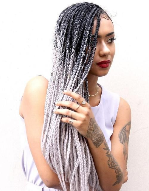 black+to+blonde+ombre+long+box+braids