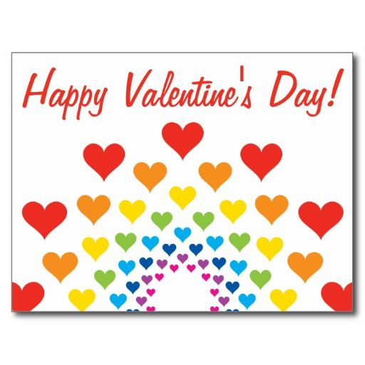 Hearts around hearts - Happy Valentine's Day! Postcard - #zazzle