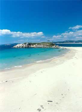 Playas en Sanxenxo. Playa de AreaGorda  Galicia  Spain