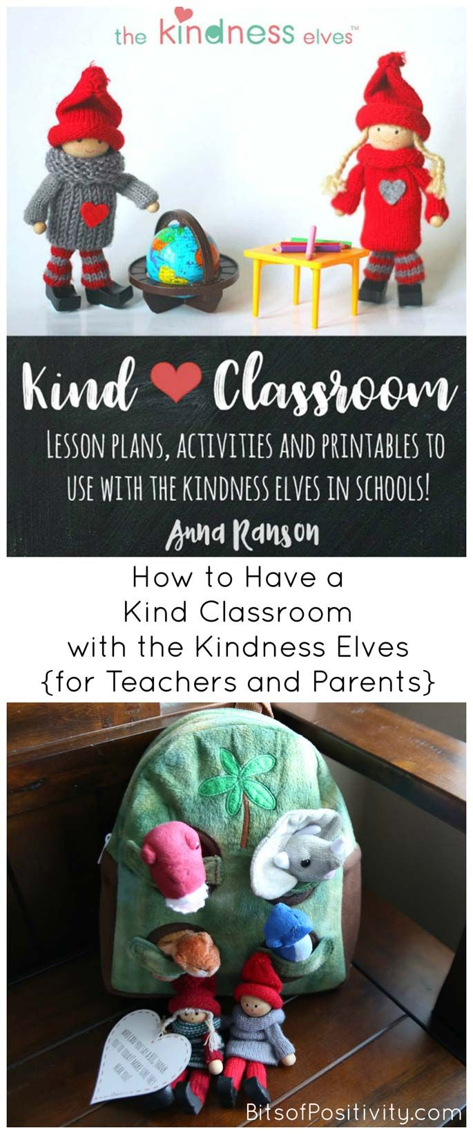 If you're a teacher or parent, check out the eBook called Kind Classroom: Lesson Plans, Activities and Printables to Use with the Kindness Elves in Schools!