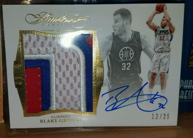 2015 16 Flawless BLAKE GRIFFIN GOLD Jumbo 3CLR PATCH AUTO #12/25 Clippers WOW!!