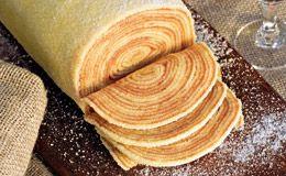 Receita de bolo de rolo com recheio de goiaba - Receitas - Receitas GNT