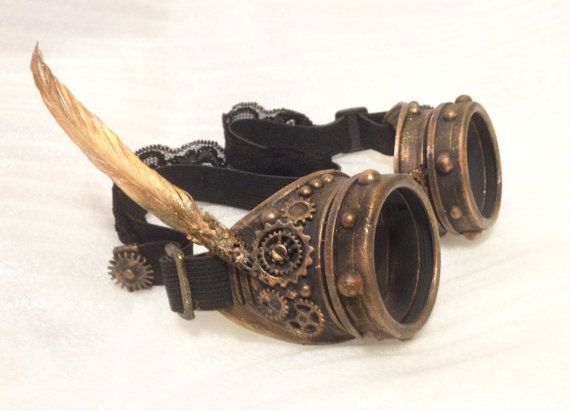 Buy Now STEAMPUNK Goggles Burning Man Goggles, Burning Seed Goggles Nowhere Mad…